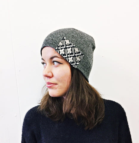 Grey African Beanie Hat by Eldimaa Fashion - Eldimaa Fashion