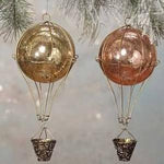 Vintage Glass Hot Air Balloon Ornament