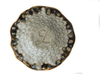 Fingerprint Pottery Initial Plate