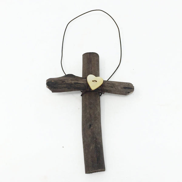 Driftwood Cross Ornament