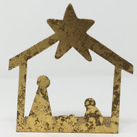 Gold Nativity Silhoutte