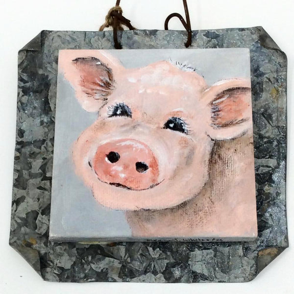 "ETW Local Art ""Pig On Tin"""