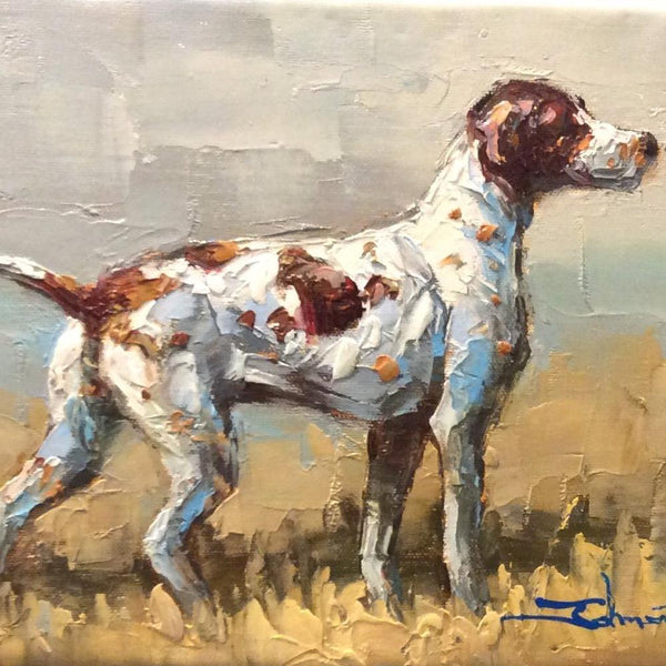 "Original Oil Painting ""Bird Dog"""
