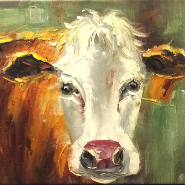 "Original Oil Painting "" Hereford"""