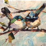 "Original Oil Painting ""Best Birds"""