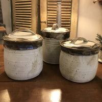 Fingerprint Pottery Canisters
