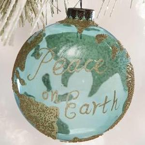 Glass Peace on Earth ornament