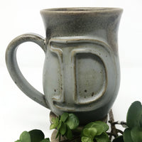 Fingerprint Pottery Initial Coffee Mug