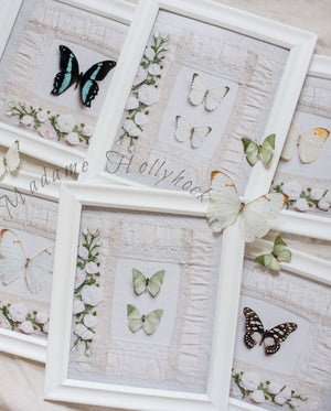 Welcome Wall Art Butterfly Print Set of Seven