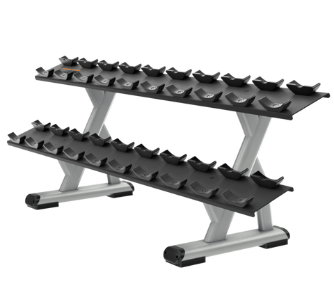 Precor Discovery™ Series 2-Tier, 10 Pair Dumbbell Rack
