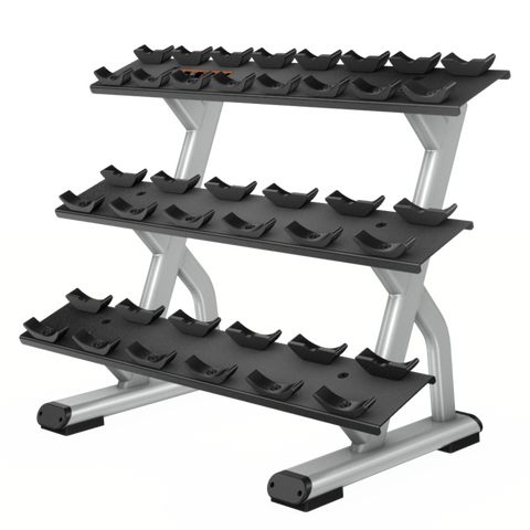 Precor Discovery™ Series 3-Tier, 10 Pair Dumbbell Rack