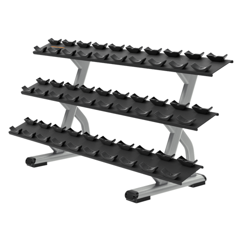 Precor Discovery™ Series 3-Tier, 15 Pair Dumbbell Rack
