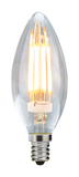 Candelabra Base Filament LED Bulbs