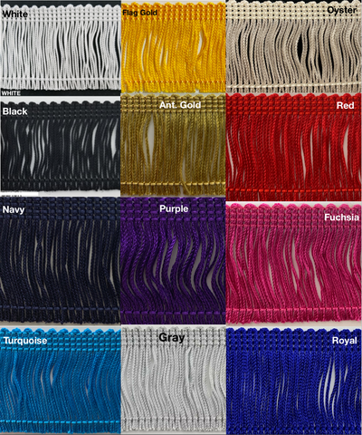 "4"" Rayon Chainette Fringe - 6 Continuous Yards - Many Color Options!"