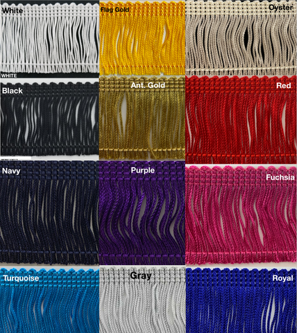"2"" Rayon Chainette Fringe - 12 Continuous Yards - Many Color Options!"