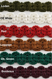 "3/4"" Double Scalloped Braid Gimp Trim - 12 Yards - MANY COLORS!"