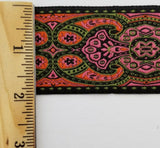"1-7/8"" Jacquard Woven Floral Ribbon Trim - 9 Continuous Yards - Many Colors!"