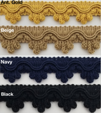 "7/8"" Decorative Scalloped Loop Fringe Trim - 10 Yards - Many Color Options!"