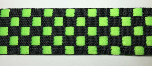 "18 Continuous Yards - Jacquard Woven Checkerboard Ribbon Trim - 1"" Wide!"