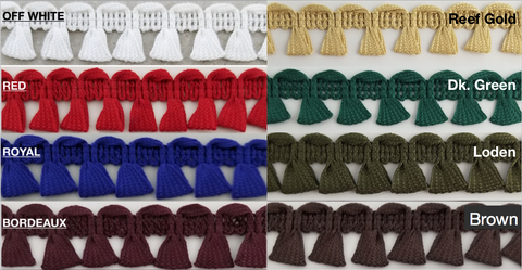 Looped Tassel Fringe Trim - 18 Continuous yards - MADE IN USA!