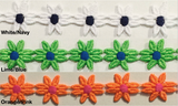 "7/8"" Venice Lace Daisy Trim - 9 Continuous Yards - Many Colors Available!"