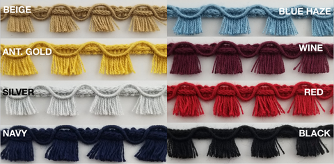 Tassel Fringe Trim - 18 Continuous Yards - Many Colors Available!