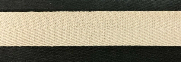 "3/4"" Cotton Twill Tape - Color: Natural - 72 Yards TOTAL! - Made in USA!"