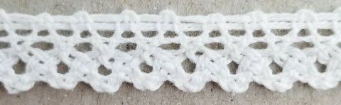 "1/2"" Cotton Cluny Lace Trimming - 20 Yards - MADE IN USA!"