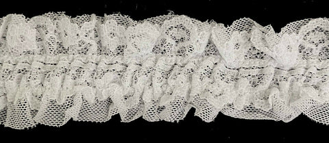 "1-3/8"" Stretch Ruffled Gathered Lace Trimming - 8 Yards!"