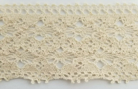 "2"" Cotton Cluny Lace Trimming - 10 Continuous Yards - MADE IN USA!"