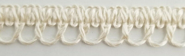 "3/8"" Looped Cluny Lace Trimming - 30 Yards - MADE IN USA!"