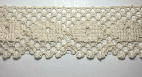 "1.5"" Cluny Lace Trimming - Color: Natural- Put-Up: 10 Continuous Yards"