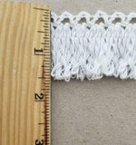 "1.5"" Cotton Cluny Braided Looped Fringe Trimming - 10 Continuous Yards"