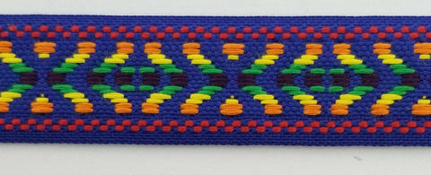 "1"" Geometric Jacquard Woven Ribbon Trim - 10 Continuous Yards"
