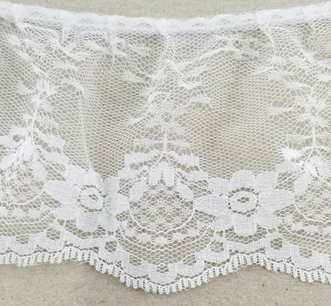 "3.5"" Ruffled Gathered Lace Trimming - 9 Total Yards!"