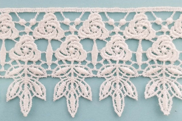 "2-1/2"" Floral Venise Venice Lace Trim - 7 Continuous Yards - Colors Available!"