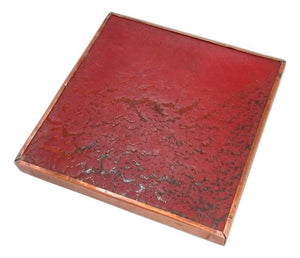 Trent Tile Company Ceramic, Copper & Brass Trivet Craftsman Style
