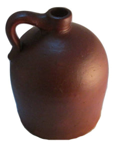 Antique Redware Jug 10 Inch Beehive Shape W. Virginia Circa 1850