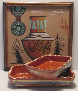 A. Begay Navajo (Diné) Framed Sand Painting