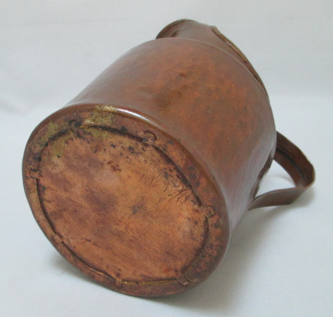 Hammered Copper Pitcher Hand Made  Bottom View-2962 x 2821-jpg.JPG