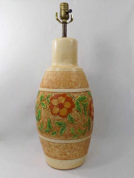 Chalkware Lamp 1960s Continental Studios Signed CarsuKe no cord showing