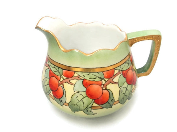 Antique  Bavarian China Hohenzollern Large Cider Pitcher Circa 1910