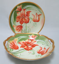 Gorgeous Limoges Mandavy de Mavaleix Bowl and Plate Full Front View