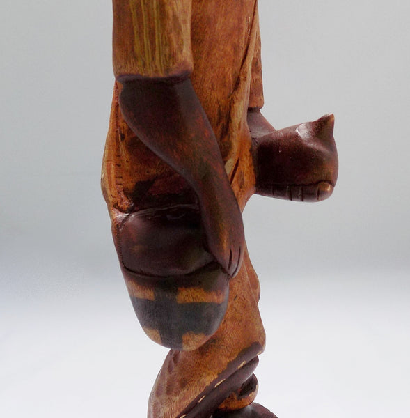 Folk Art Haitian Wood Carving Statue From Jacmel Mid View