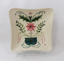 Creek-Turn 1950s Pottery Bowl Kleiner Original #232 Artist Signed Front view on Stand