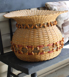 4422 Lg. Basket with Curl Decorations Natural Light-on bench-C-2061 x 2305.jpg