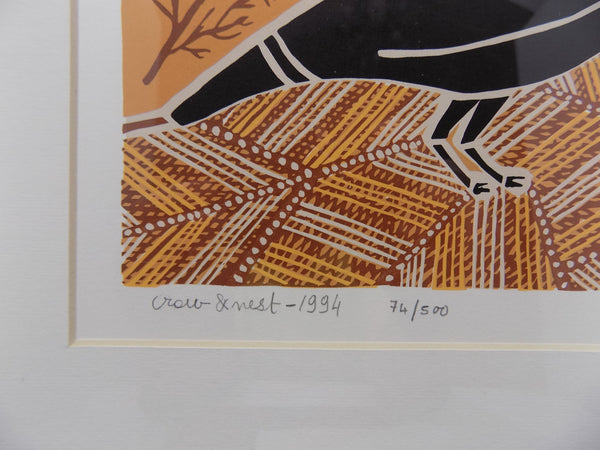 Aborigine L E Print With COA by Doris Gingingara, 1994 close up