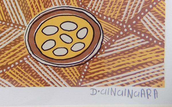 Aborigine L E Print With COA by Doris Gingingara, 1994 signed
