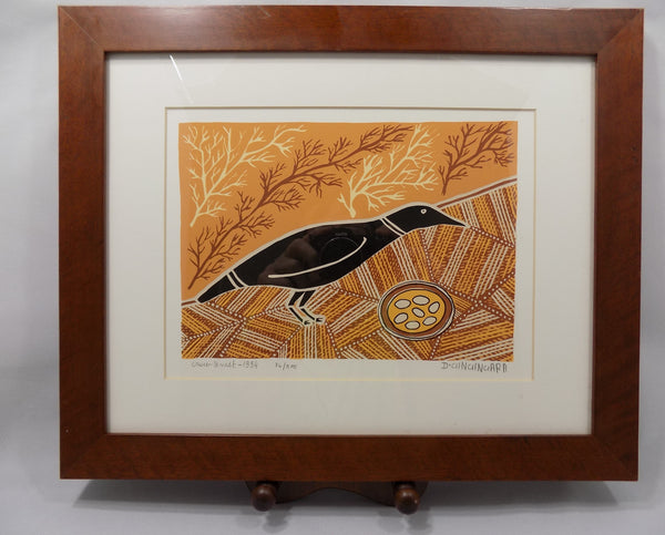 Aborigine L E Print With COA by Doris Gingingara, 1994 full view of print