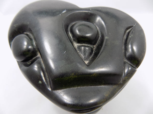 Zimbabwe Sculpture Shona Stone Owl by Taurai Nyawude top view